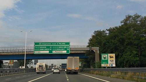 limitations motorway from genova aeroporto ovest
