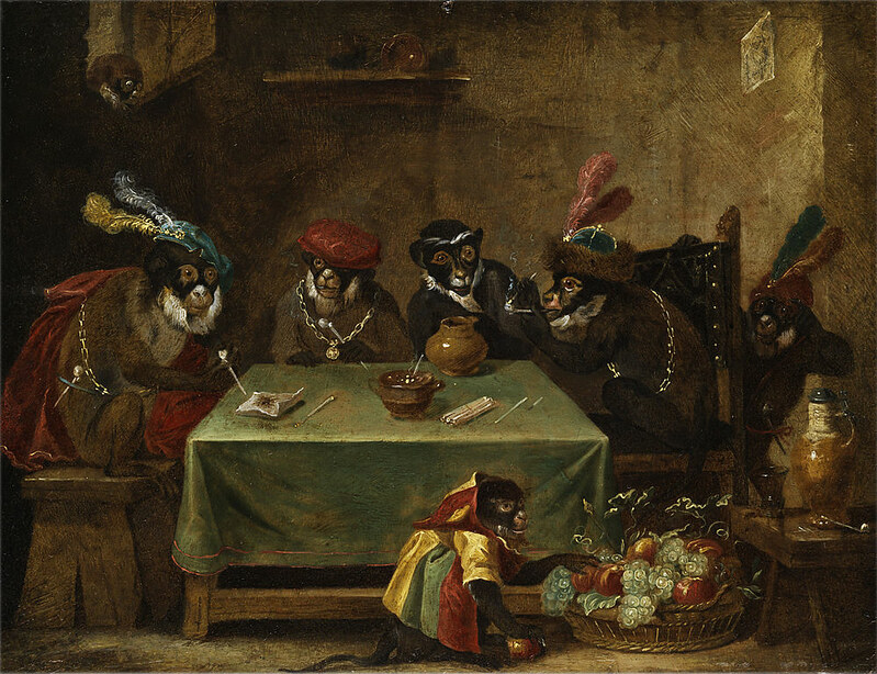 The Singerie: Monkeys acting as Humans in Art – The Public Domain Review