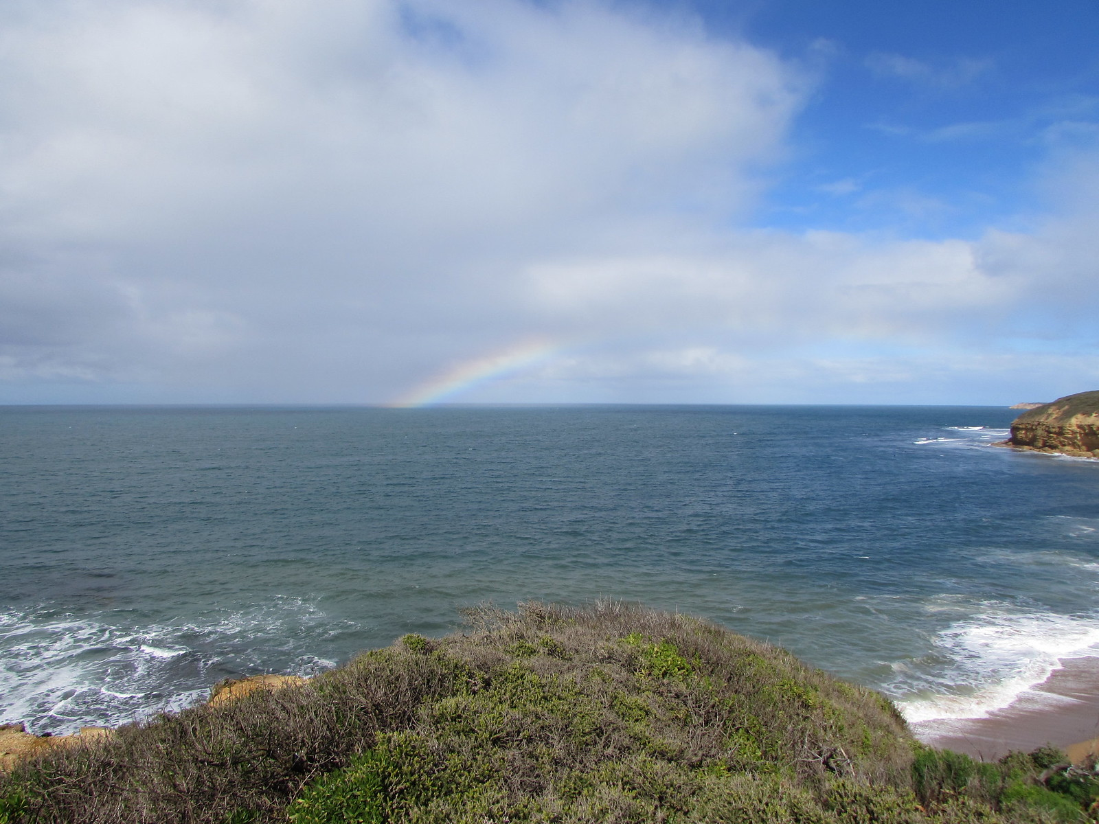 A rainbow - at Bells Beach