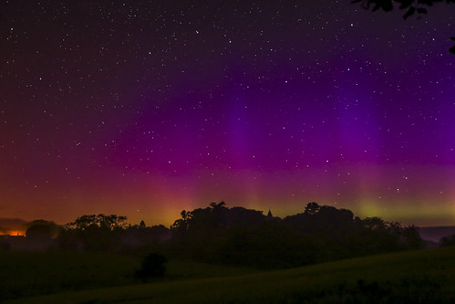 Aurora over Ellingham Church