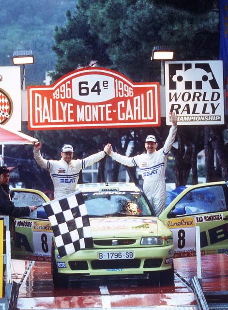 SEAT Ibiza II на Ралли Монте-Карло 1996 года финиширует 10-й