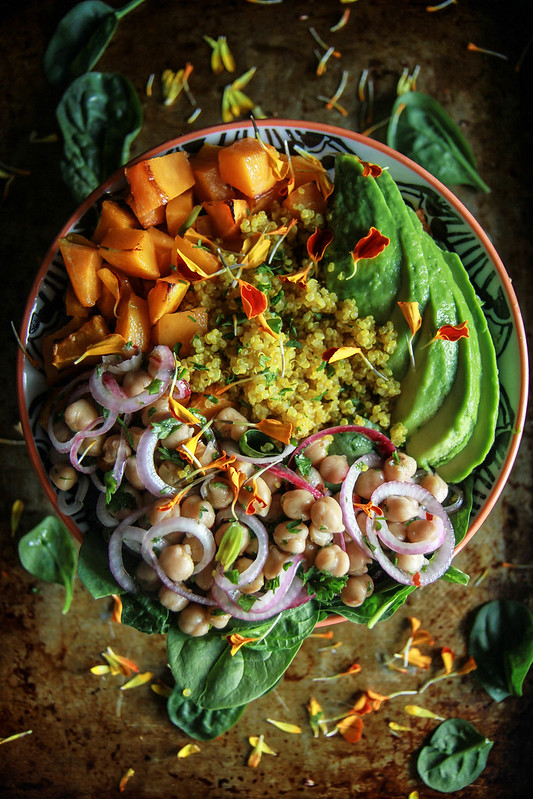 Vegan Fall Harvest Quinoa Bowl from HeatherChristo.com