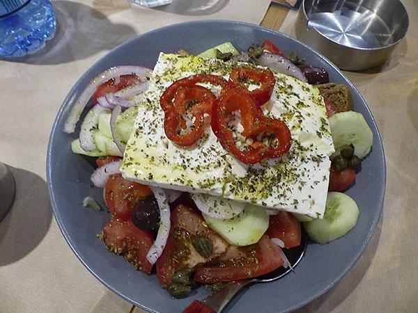 salade grecque piatsa deuxième fois