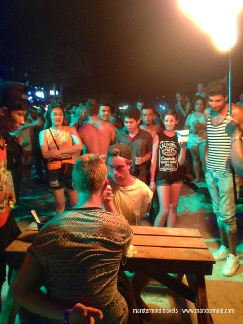 Games during the Pre-Full Moon Party at Koh Phangan