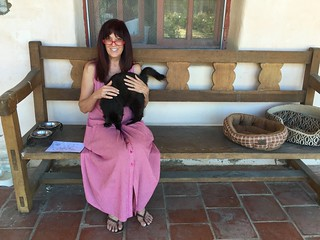 Laura Biche and Cat, Mission San Antonio de Padua, Jolon California, July 2016
