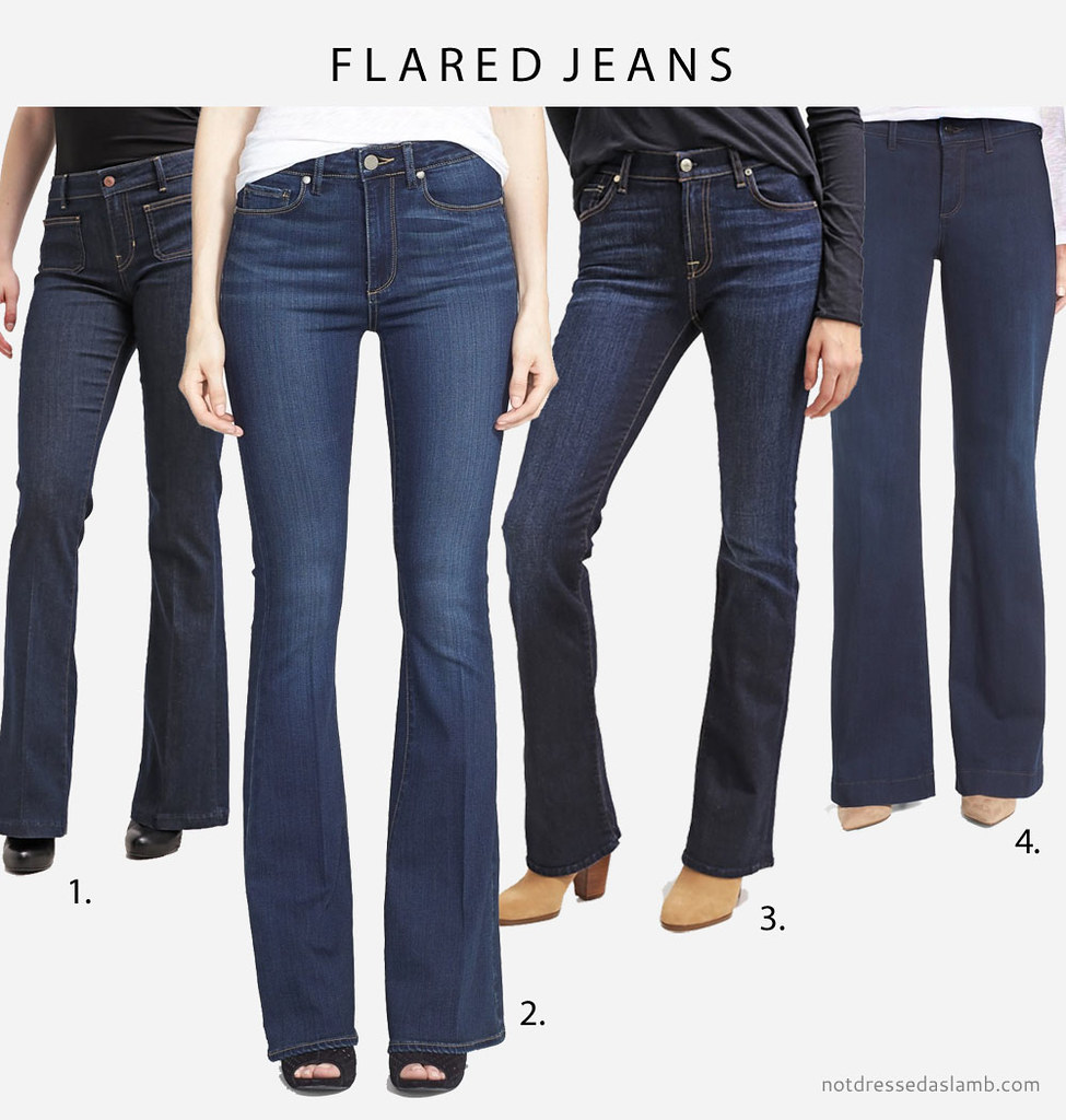 Capsule Wardrobe Pieces That Suit All Body Shapes & Sizes - No.2 Classic Dark Wash Jeans (flared jeans) | Not Dressed As Lamb
