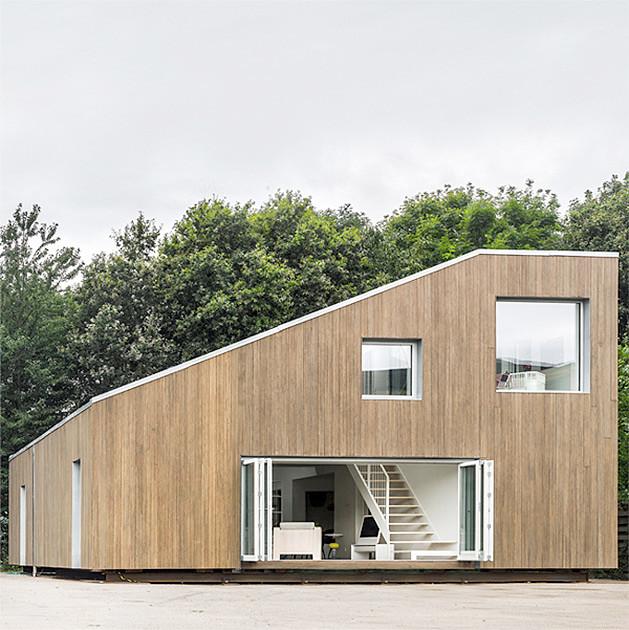 Современный дом из контейнеров в Дании. Проект бюро Arcgensy