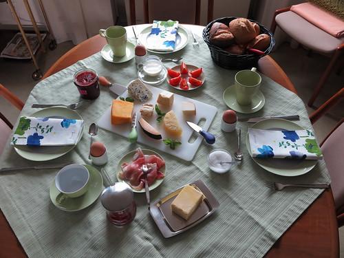Urlaubsfrühstück am Montagmorgen