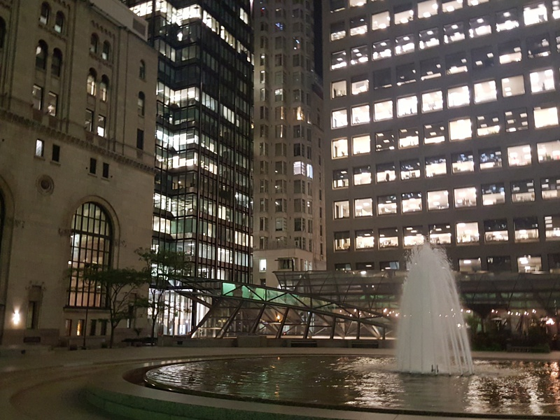 Commerce Court fountain