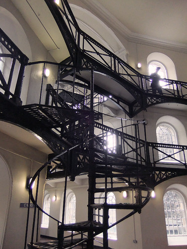 Spiral staircase in the Crumlin St. Gaol (Jail) in Belfast, Ireland