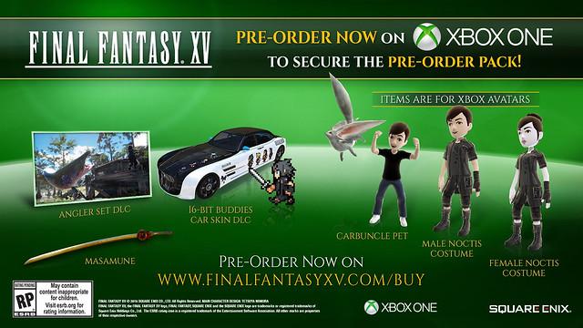 Xbox Final Fantasy XV Pre-Order Bonus