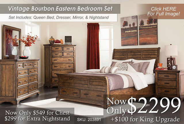 Vintage Bourbon Bedroom Set