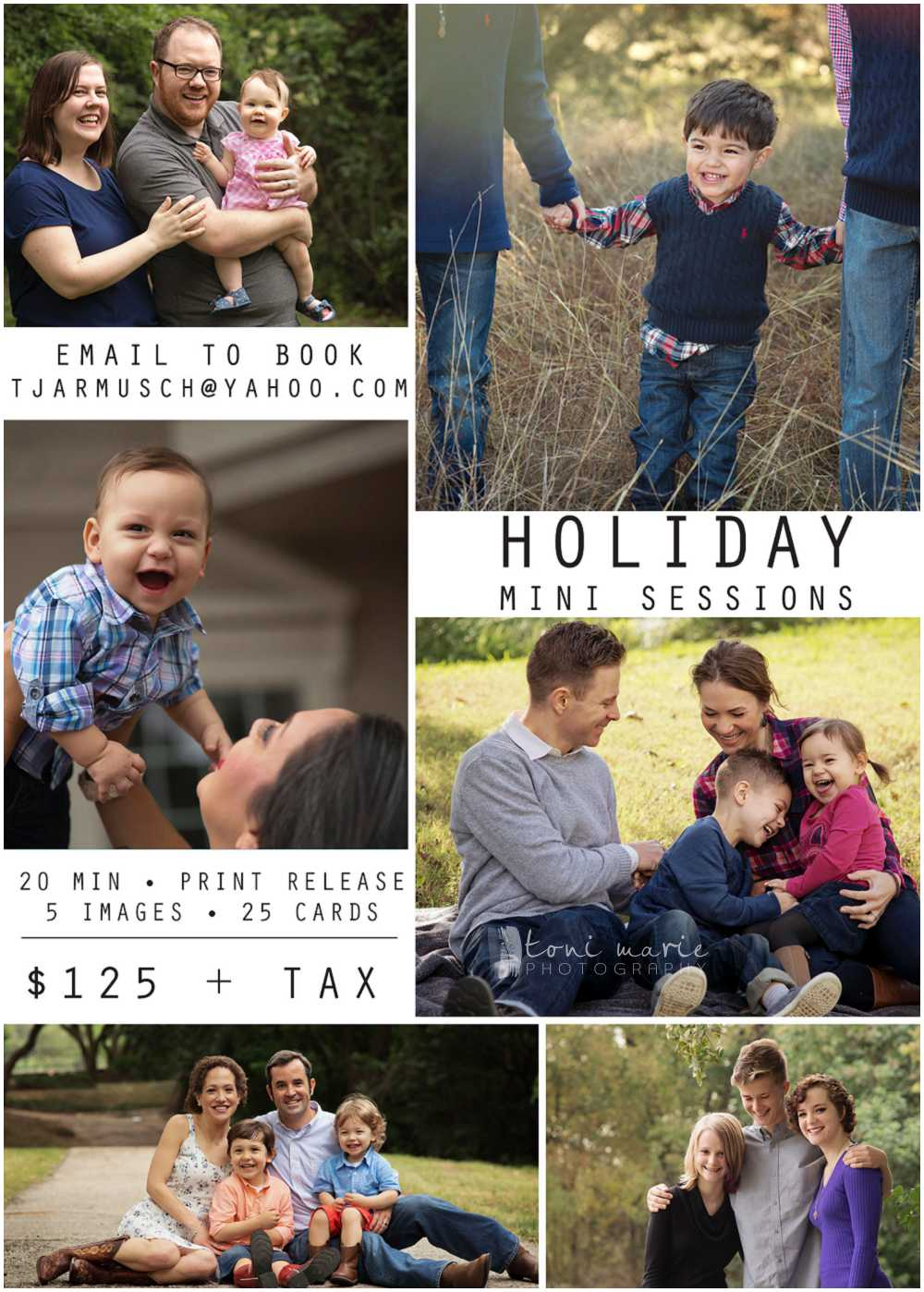 2016 Pflugervile Holiday Mini Sessions - Toni Marie Photography