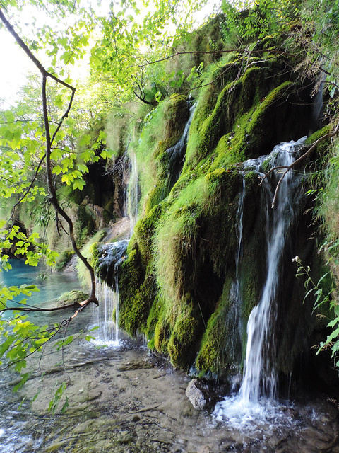 Hidden waterfall at Plitvice Lakes National Park, Croatia