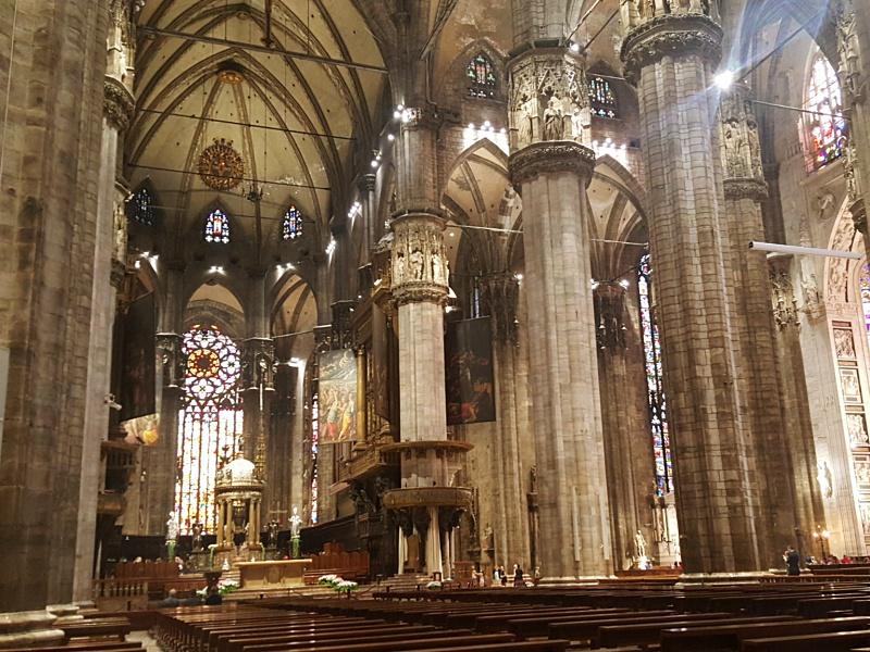 inside Milan Duomo