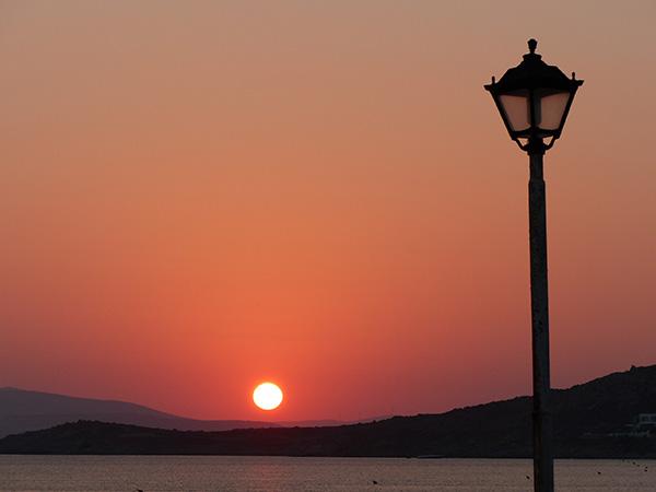 coucher de soleil à Prokopios