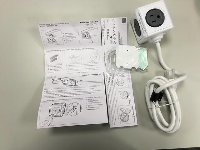 打開以後,包裝紙本身就是說明書!@PowerCube USB延長線