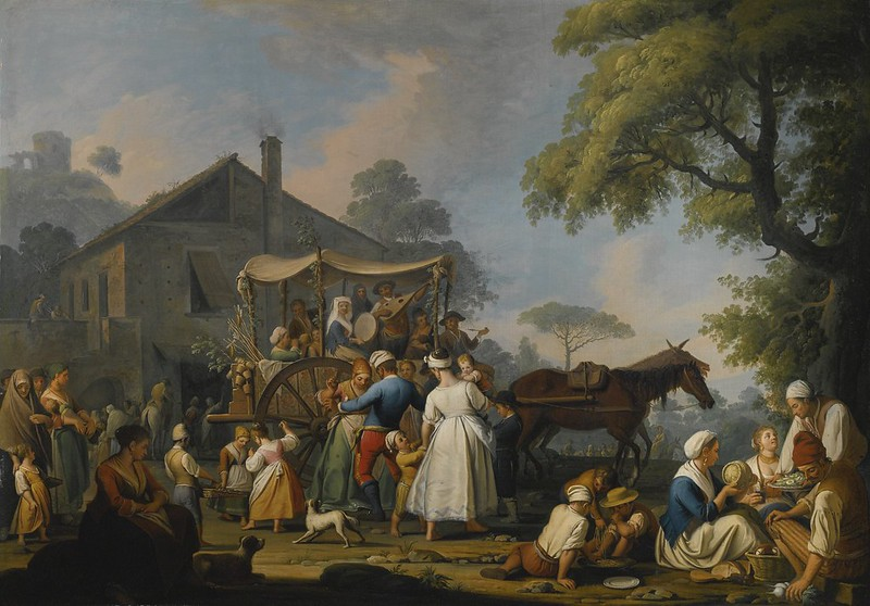 Pietro Fabris - Villagers Preparing to Depart for the festival of the Madonna Dell'arco (1773)