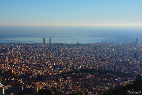 View from Tibidabo. Barcelona. Spain