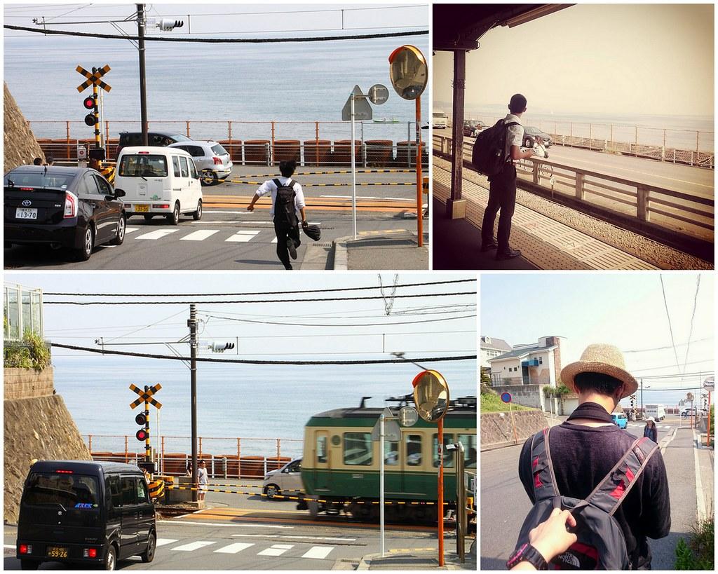 鎌倉高校前駅@江ノ電