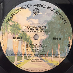 GARY WRIGHT:THE DREAM WEAVER(LABEL SIDE-B)