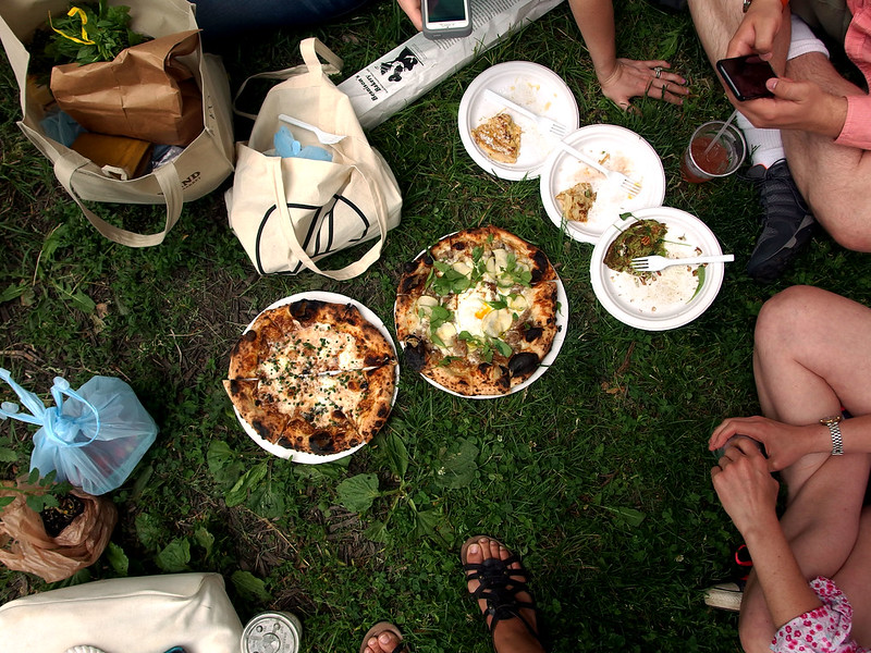 This is what a cookbook club does when they go to the farmers market