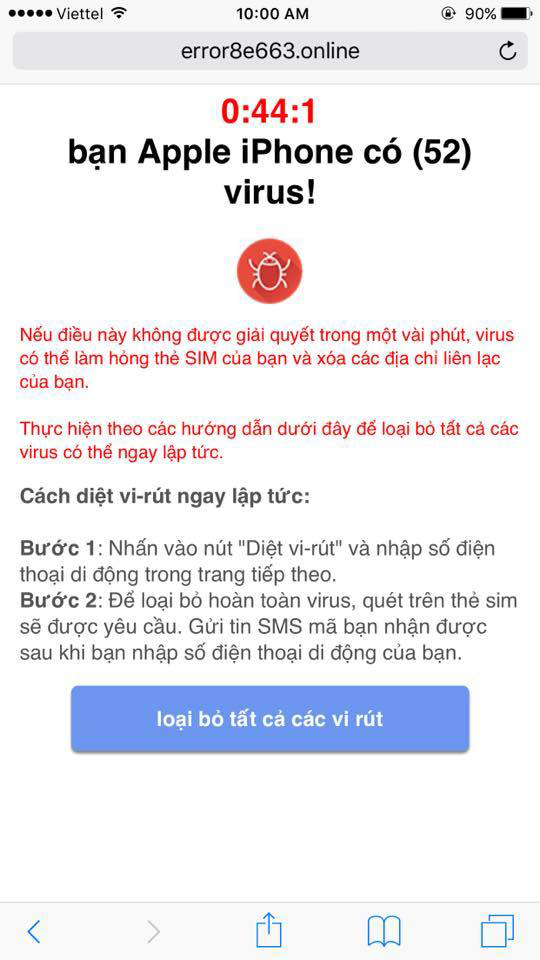 NTS Ha Noi virus dien thoai