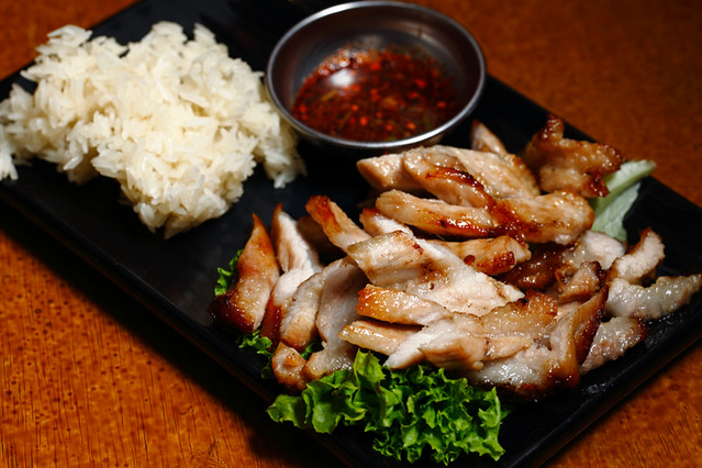 Grilled Pork Neck with Sticky Rice