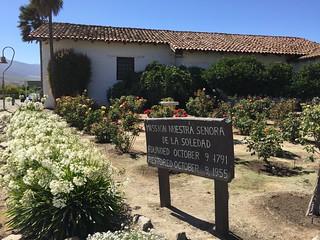 Garden, Mission Nuestra Senora de Soledad, Soledad California, July 2016