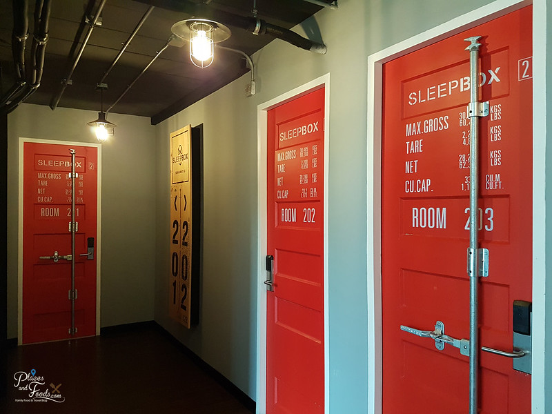 sleepbox sukhumvit 22 corridor with doors