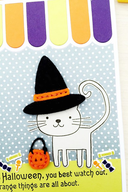Stitched Witch Hat works nicely with Cat's Meow Stamp Set by Papertrey Ink