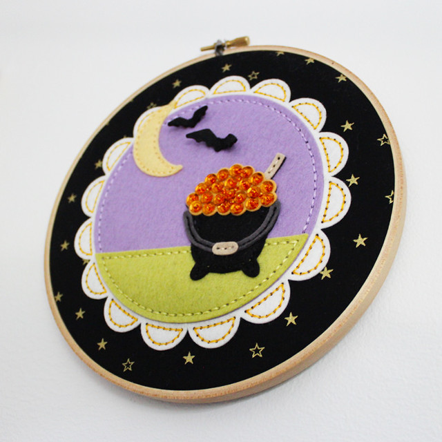 Beaded Cauldron Embroidery Hoop 3