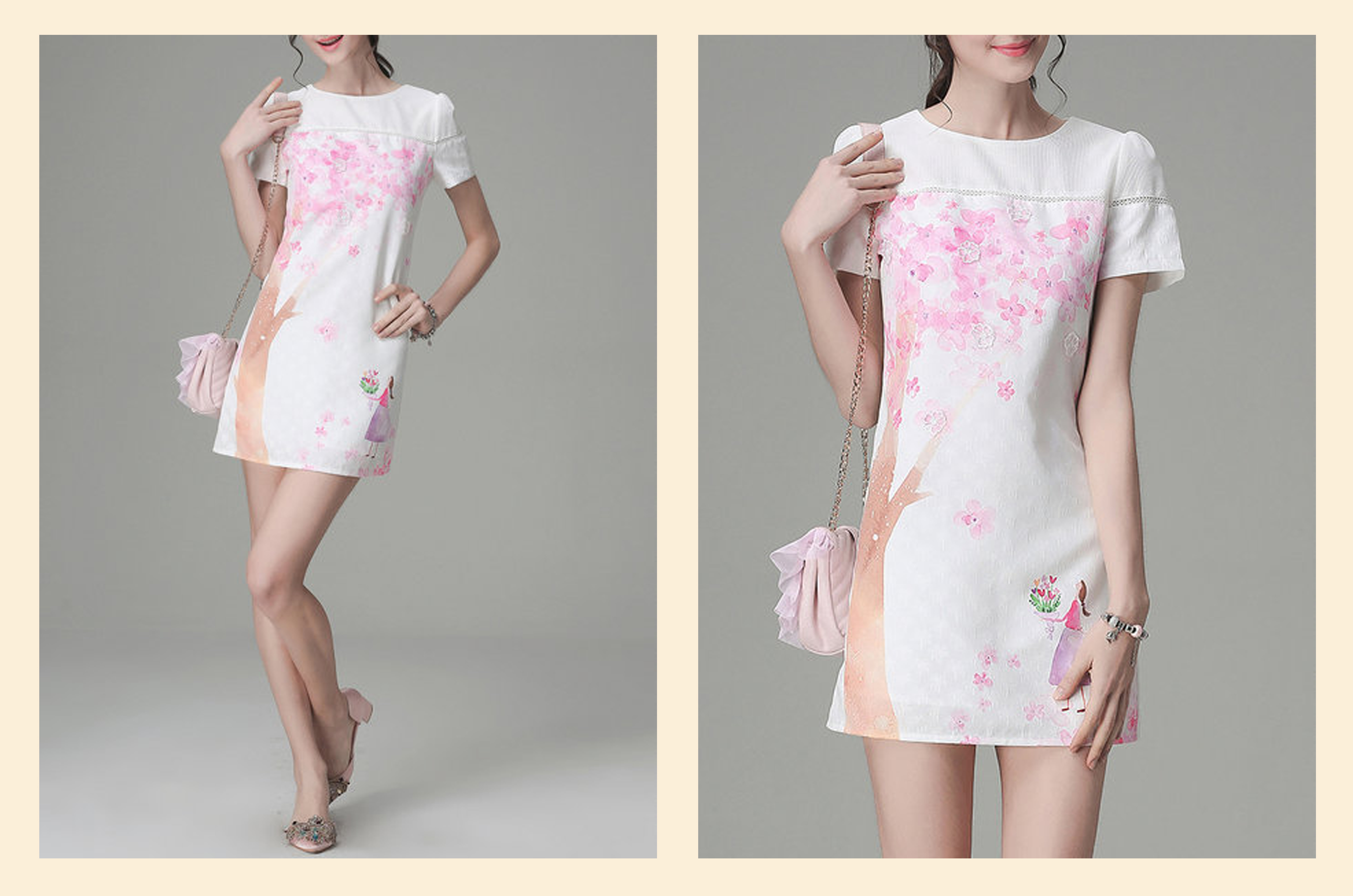 floral light pink stylewe dress