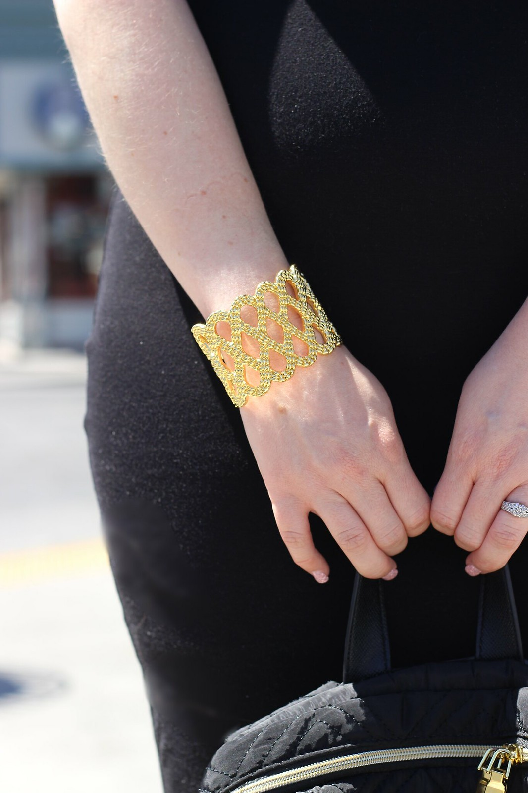 Lilly Pulitzer gold cuff