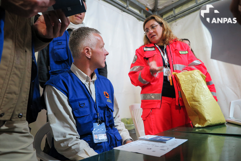 Esperti protezione civile europea al campo Anpas