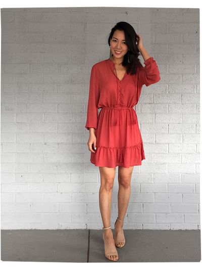 Tassel Red Dress