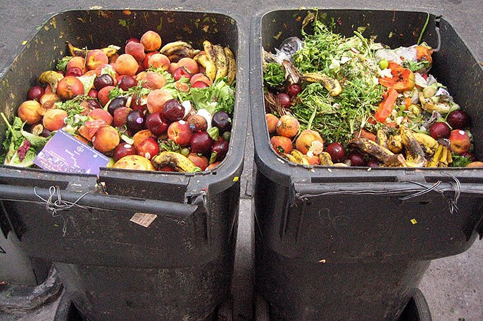 food in dumpster