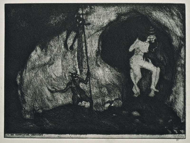 Stefan Eggeler - The Walpurgisnacht Portfolio (six etchings after Gustav Meyrinks) 1922 (4)