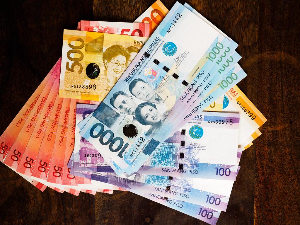 Dinero en Filipinas durante 1 mes