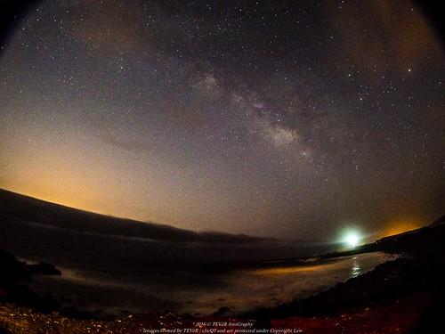 Vía Láctea y Escorpio con Saturno y Marte