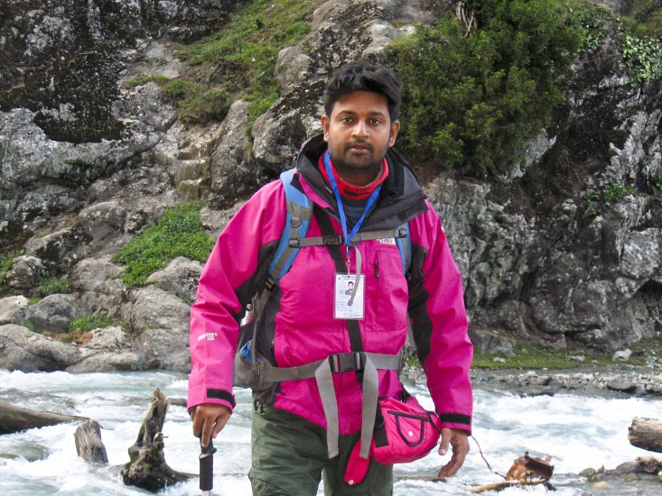 BongBlogger during Amarnath Yatra 2016, Jammu and Kashmir, India