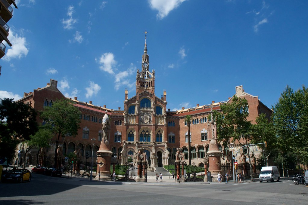 Sant Pau modernist site in Barcelona