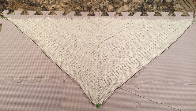 shawl 2/3 done