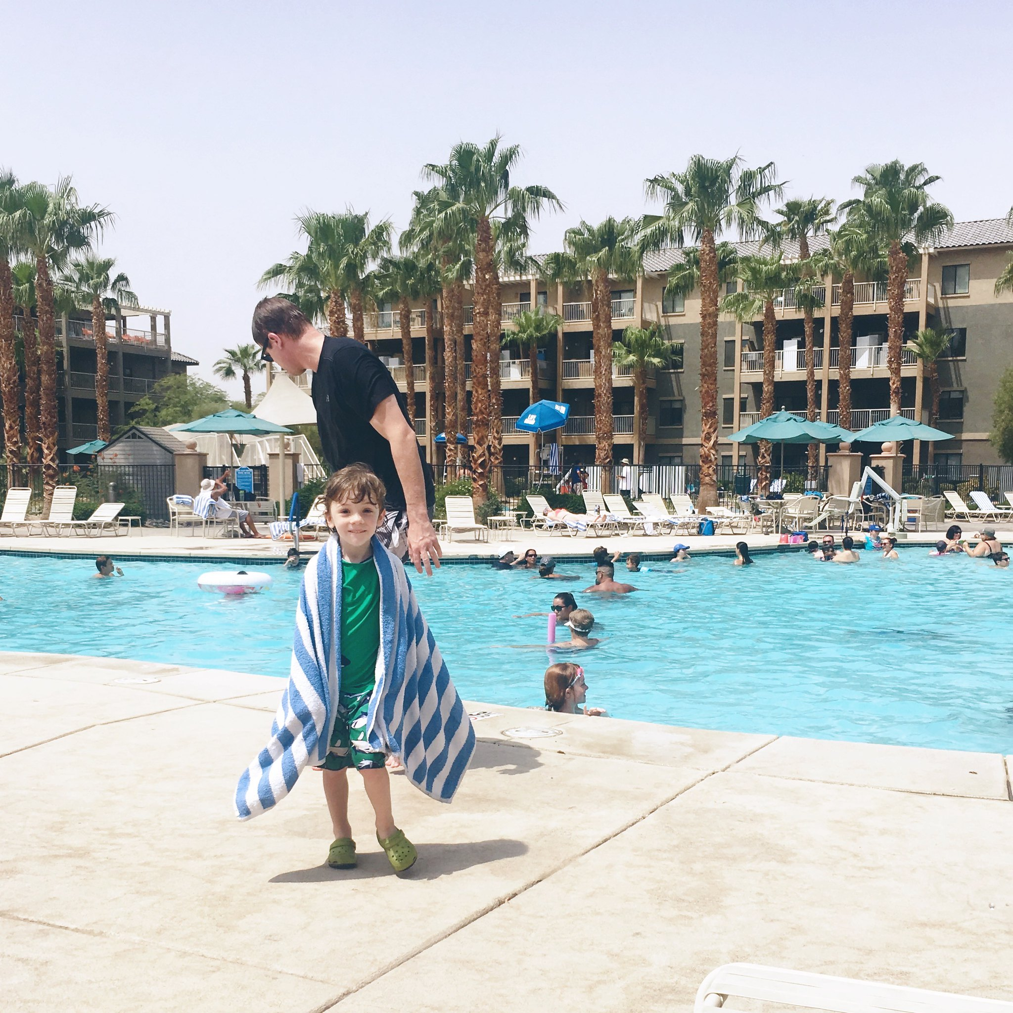 Swimming at Worldmark Indio