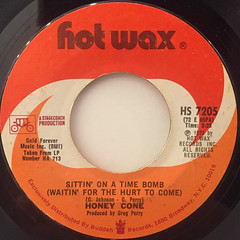 HONEY CONE:SITTIN' ON A TIME BOMB(WAITIN' FOR THE HURT TO COME)(LABEL SIDE-A)
