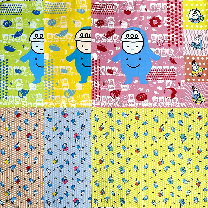 喂歡樂時光(2尺一圖) 塗鴉插畫 抱枕 門簾 手工藝DIy拼布布料 CA1900002