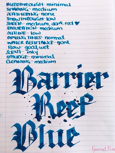 Ink Shot Review Blackstone Barrier Reef Blue @AndersonPens 5