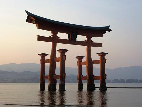 jp16-Myajima-Torii-coucher du soleil  (7)