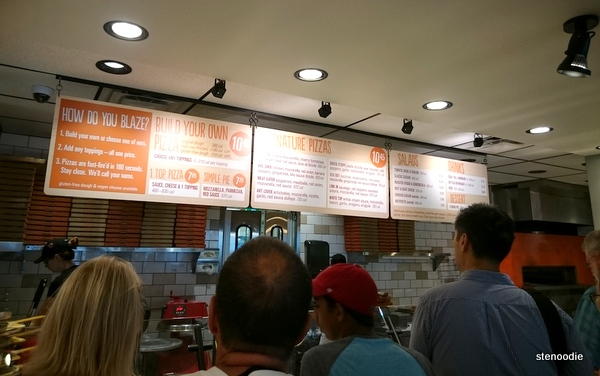 Blaze Pizza line-up