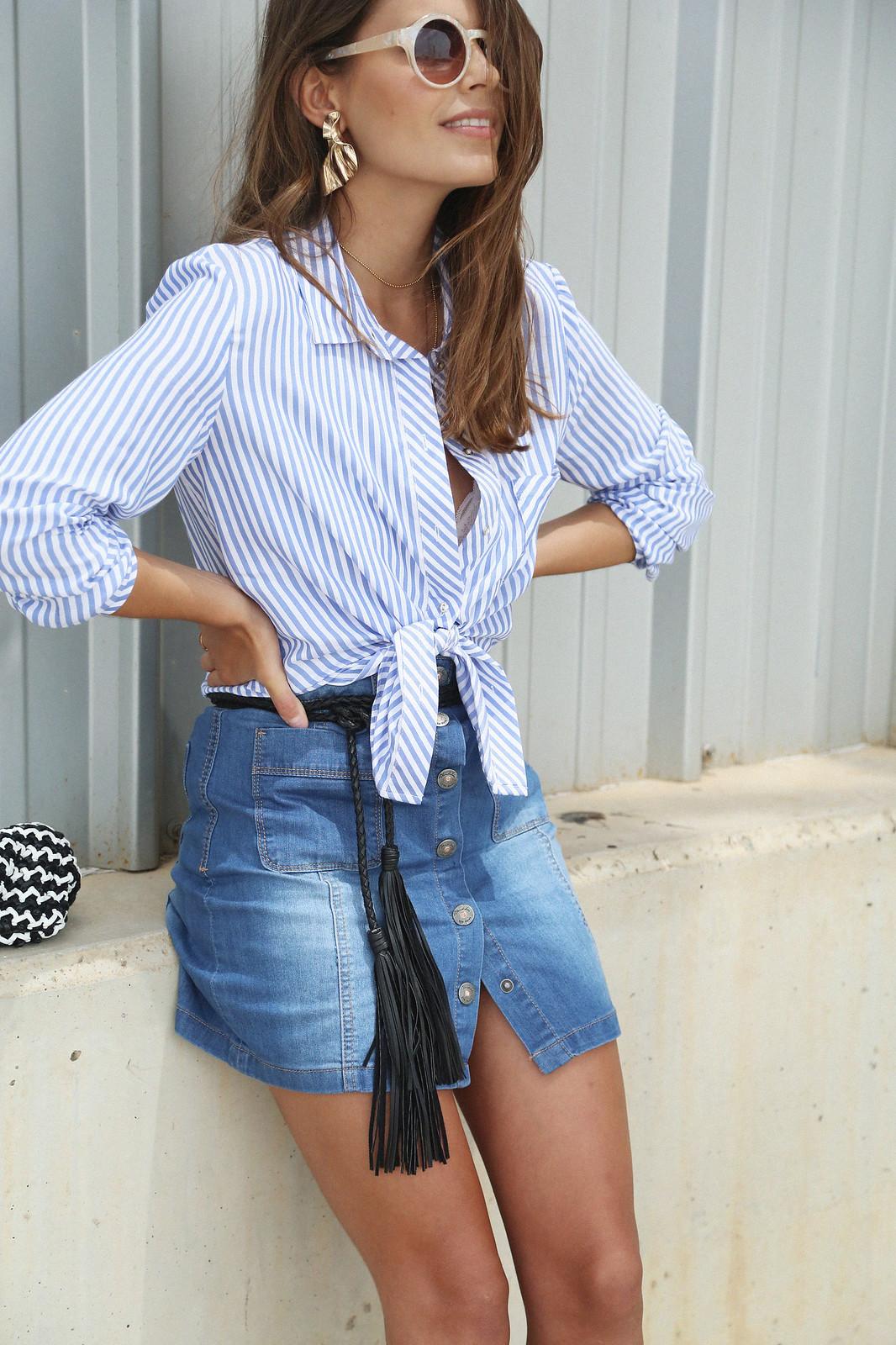 jessie chanes seams for a desire denim skirt stripes shirt-13